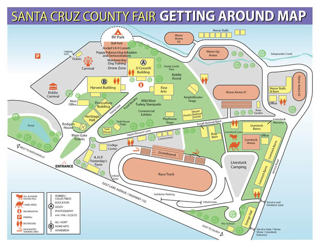 Map of the Santa Cruz County Fairgrounds Map Of County on los angeles county, new york county, illinois county, texas map county, texas by county, middle east county, map south carolina, early county, new jersey county, map england counties,